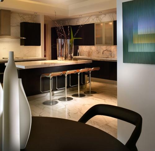 дизайн кухни в элитном интерьере