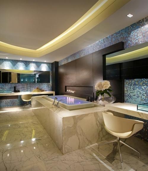 элитный дизайн интерьера ванной