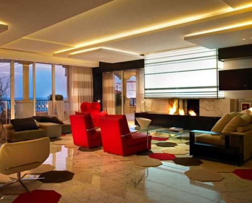 элитный дизайн интерьера гостиной
