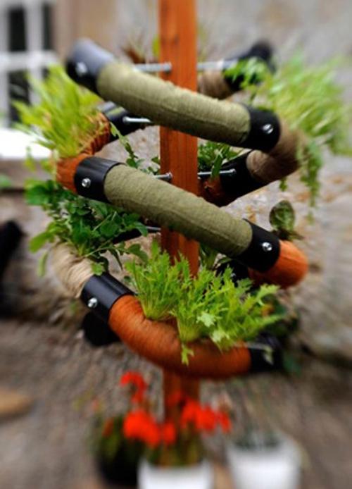 спиралевидный вертикальный огород
