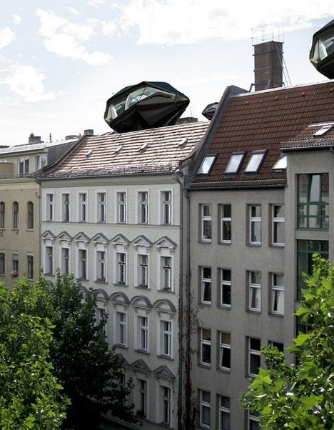 сравнительные габариты дома на крыше