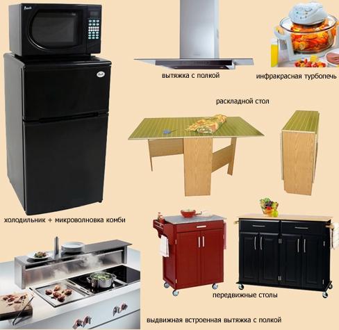 современная мебель для малогабаритной кухни