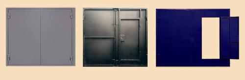 металлические распашные гаражные ворота