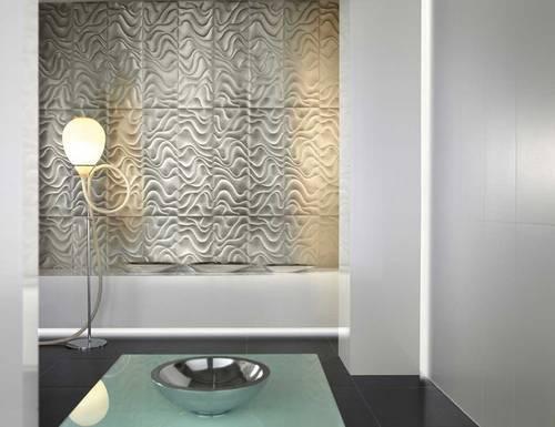 рельефная плитка в интерьере ванной