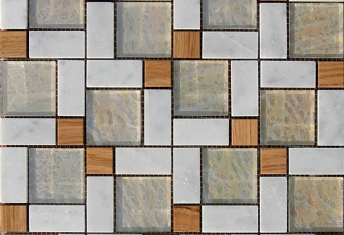 облицовочная мозаика с твердой древесиной