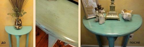 искусственное старение консольного столика