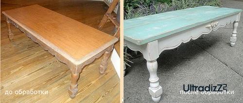 мебель до и после искусственного старения