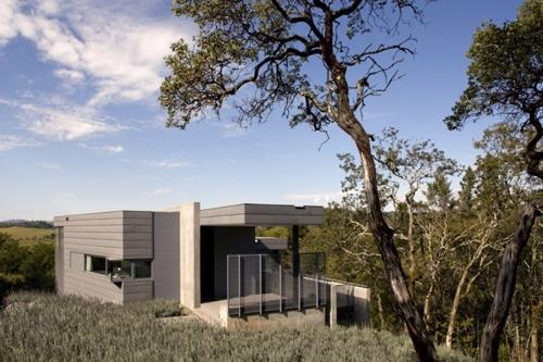дизайн маленького дома из бетона