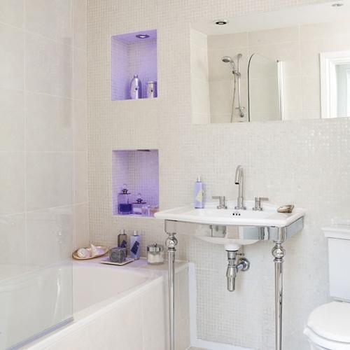 цвет в дизайне маленькой ванной комнаты