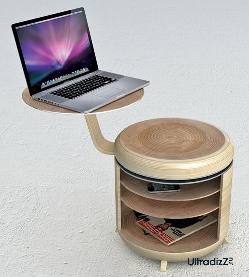 необычный компьютерный стол с тумбой 3 в 1
