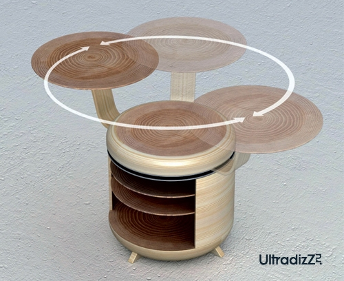 тумба-стул с вращающимся столиком