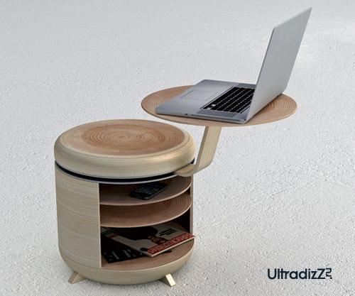 стол, стул и тумба в одном корпусе