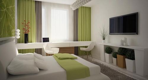 современный интерьер спальни 2