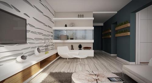 современный интерьер гостиной 2