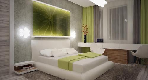 современный интерьер спальни 4