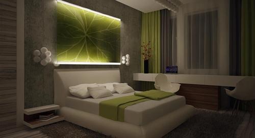 современный интерьер спальни 5