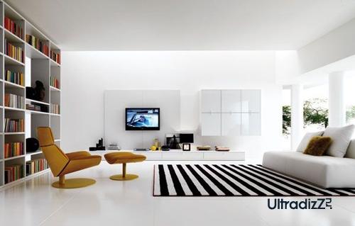 гармоничная расстановка мебели в гостиной