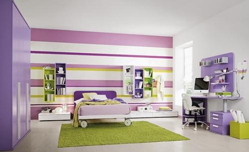 оригинальный цвет в дизайне детских комнат