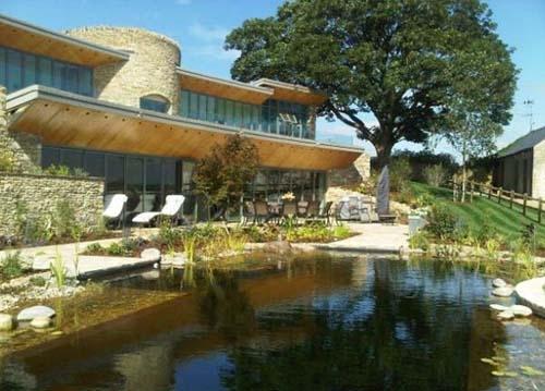 натуральный бассейн в частном дворе