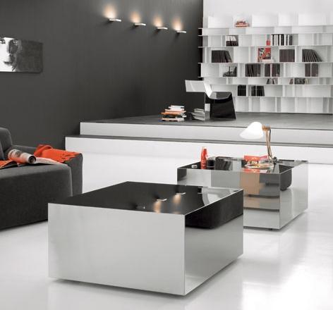 элитная итальянская мебель из полированной стали