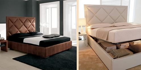 элитная итальянская кровать с кожаной обивкой
