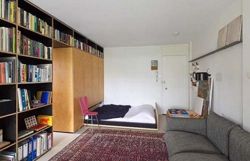 спальная зона в интерьере маленькой квартиры