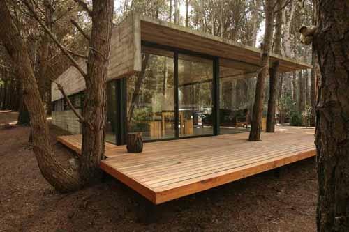 бетонный летний дом