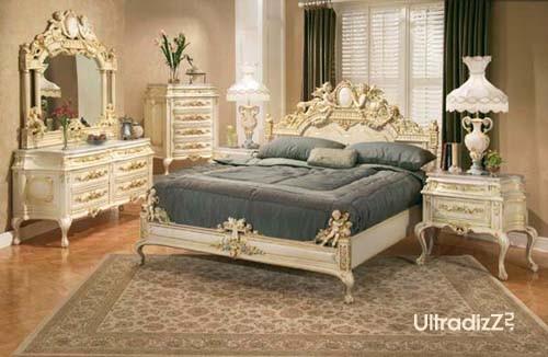 английский стиль интерьера спальни в светлой гамме