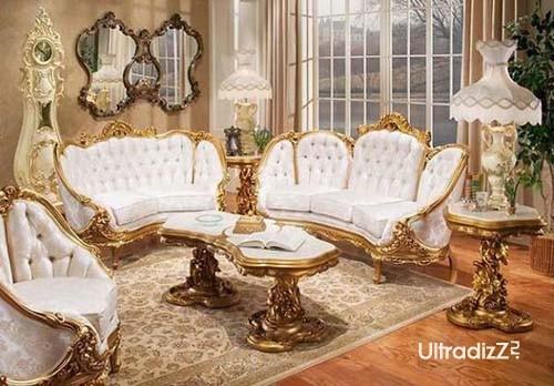 роскошная мебель для гостиной в английском стиле