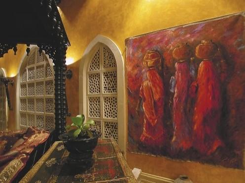 живопись в арабском интерьере