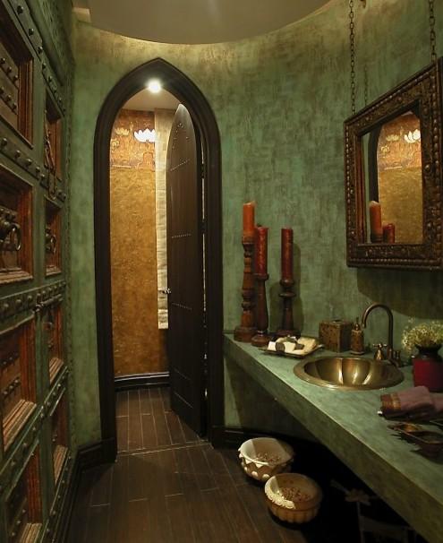 арабский интерьер ванной комнаты
