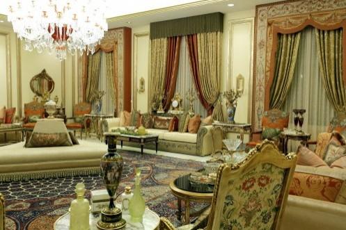 арабский интерьер с классическими драпировками