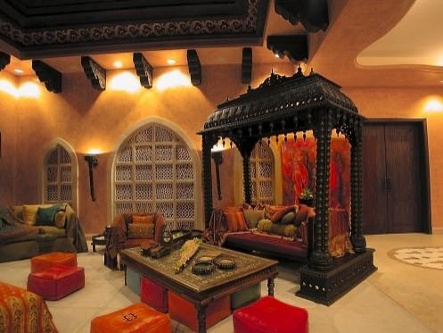 оригинальная гостиная в арабском стиле