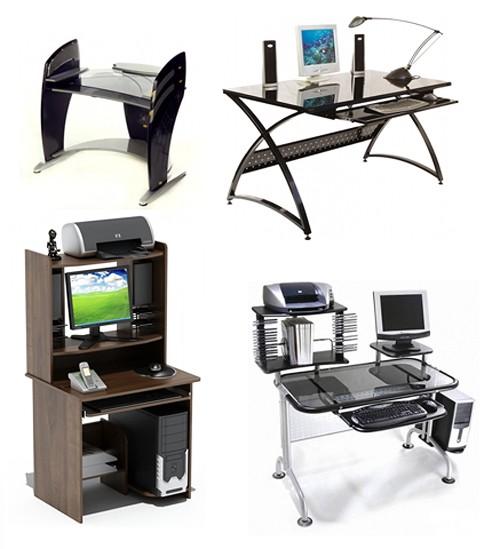 компьютерные столы для дома разных стилей