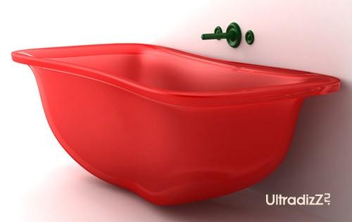 малогабаритная ванна в наполненном состоянии