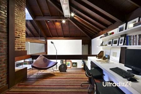 дизайн мансарды домашний офис