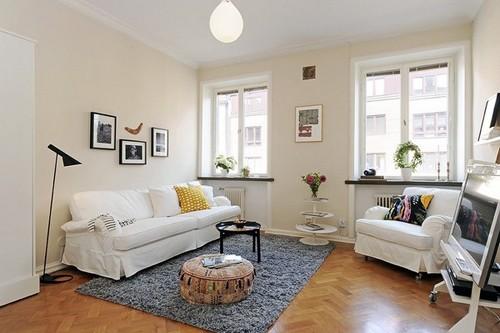 гостиная в однокомнатной квартире
