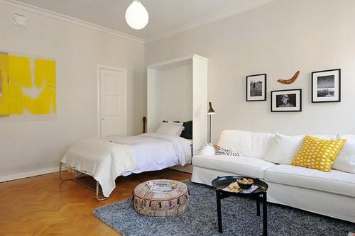раскладная кровать в однокомнатной квартире