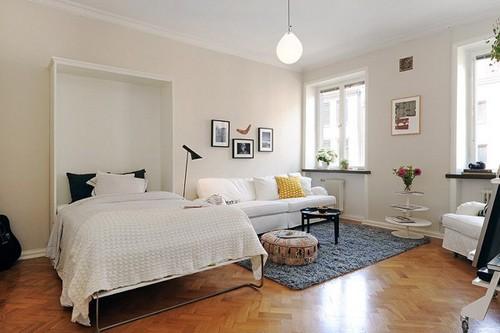 кровать-трансформер в однокомнатной квартире