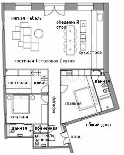 план лондонской квартиры