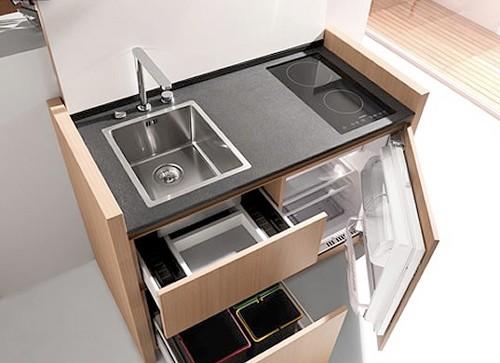 компактная кухня для малогабаритной квартиры