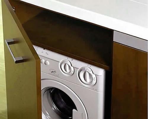 мини кухня со встроенной стиральной машиной