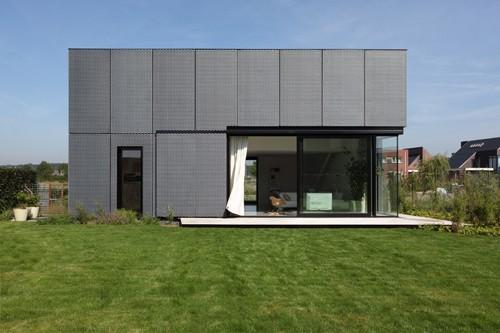 фасад частного дома из расширенного алюминия