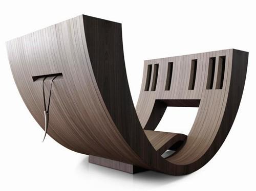 мебель для чтения с нишами для книг