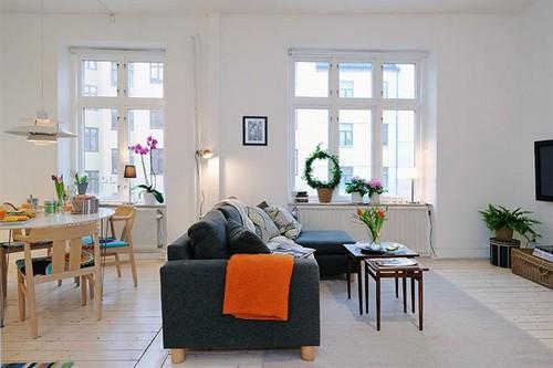 гостиная и столовая в однокомнатной квартире