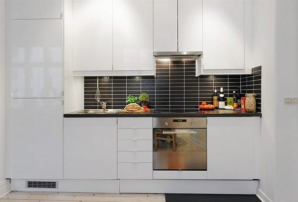 дизайн кухни в квартире открытой планировки