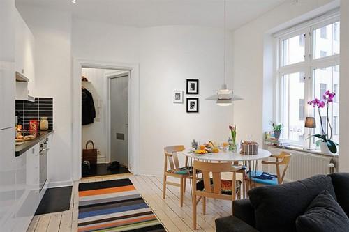 кухня и столовая в интерьере однокомнатной квартиры