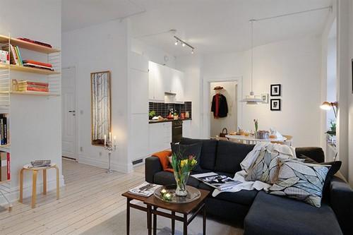 зона отдыха в однокомнатной квартире