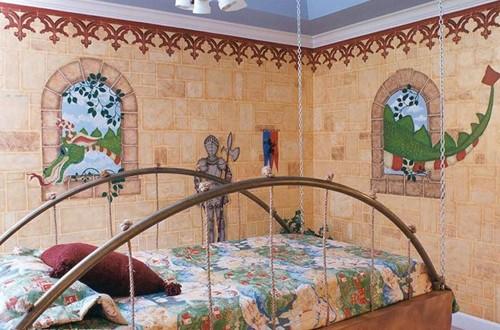 художественная роспись стен детской