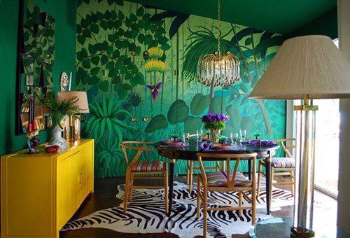 художественная роспись стен в современной манере